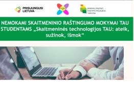 """Kviečiame Raseinių TAU studentus dalyvauti projekte """"Prisijungusi Lietuva"""""""