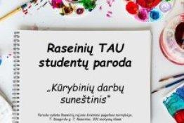 Raseinių TAU studentų virtuali paroda