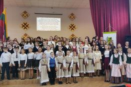 """Raseinių krašto mokinių dainos ir šokiai festivalyje """"Esu Tau, Tėvyne!"""""""